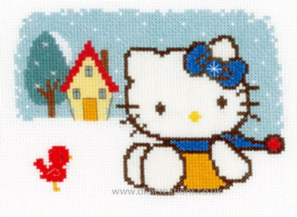 Hello Kitty Winter Cross Stitch Kit